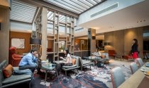 guests_relaxing_over_coffee_and_light_bites_in_Clayton_Hotel_Chiswick_lounge