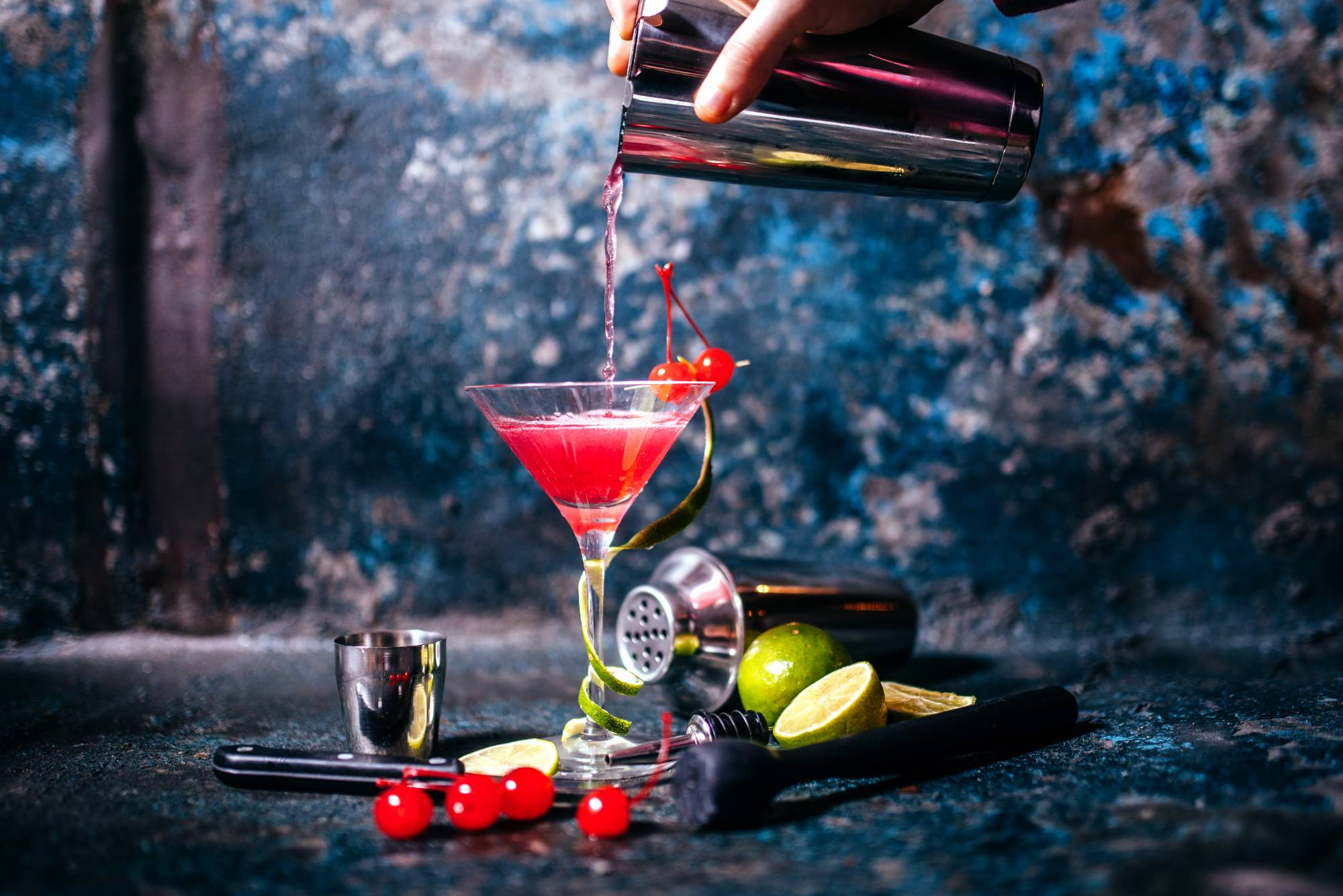 cool red cocktail creation